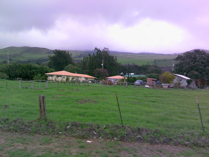 12) The sky looks magnificent over these Big Island farmhouses.