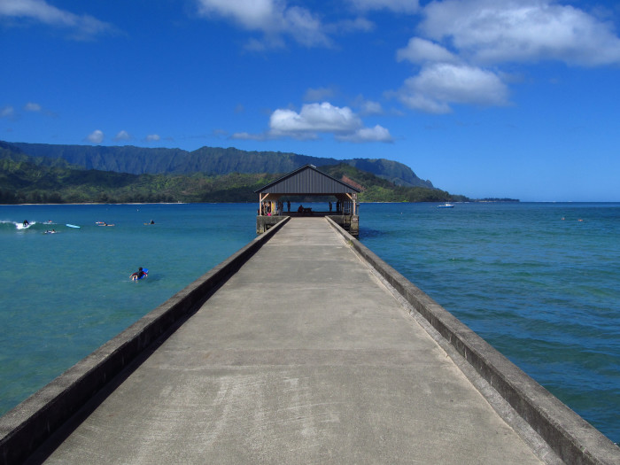 15) The view from this pier in Hanalei Bay is quite breathtaking – and the perfect spot to observe your swimming children without getting in the water yourself!