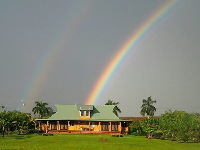 12) This rainbow near Pepeekeo on the Big Island was captured by Aloysius O'Reilly.
