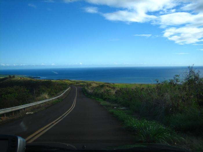 10) This winding road with beautiful ocean views leads away from Kauai's Waimea Canyon.
