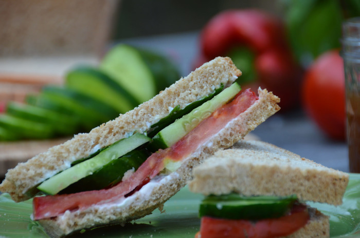 10. Mayonnaise, Tomato and Cucumber Sandwiches (with Duke's mayo, of course)