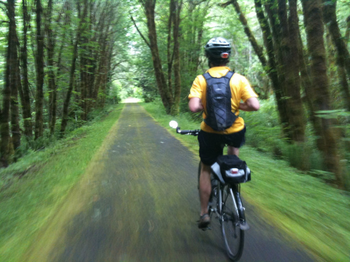 1) Hop on your bike for a ride in Vernonia