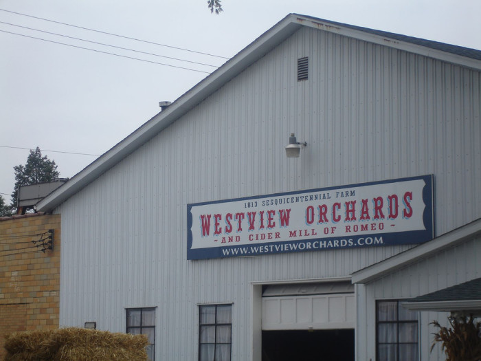 7) Westview Orchards and Cider Mill, Romeo