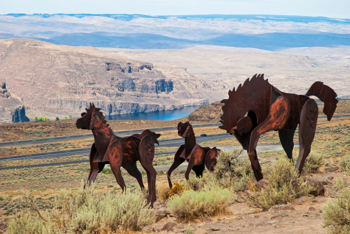 15. We have incredible artwork all around us, like the Wild Horses Monument!