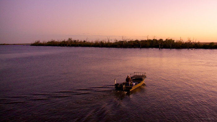 4) Taking the boat out at the end of the day.