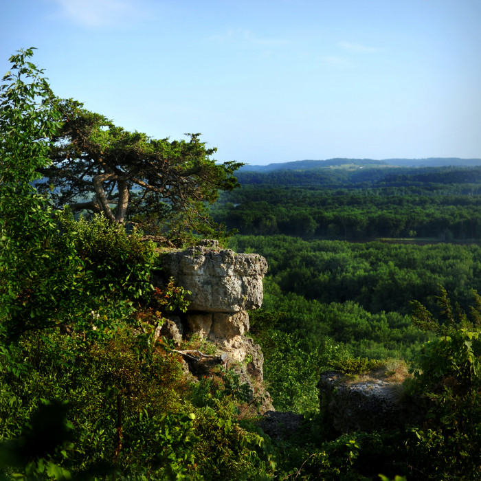 6. We have towering cliffs, and ancient limestone bluffs.