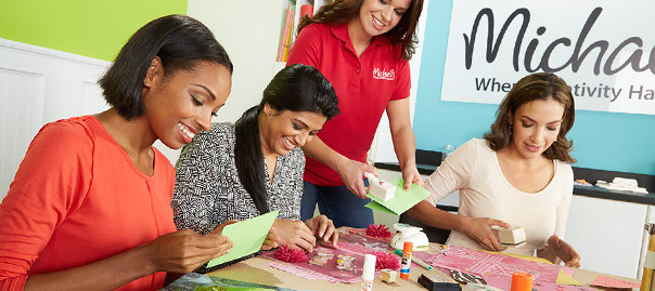 Take a class at a local craft store. You can learn anything from cake decorating to scrapbooking to knitting, and the cost of supplies is usually included in the class price.