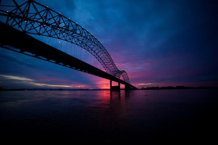 2. Hernando De Soto Bridge At Dusk