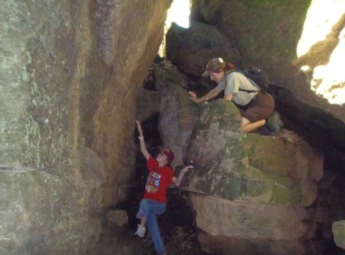 8. Go out on the Butterfield Hiking Trail at Devil's Den State Park.