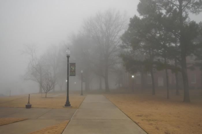 9. Foggy Morning on Lyon Campus