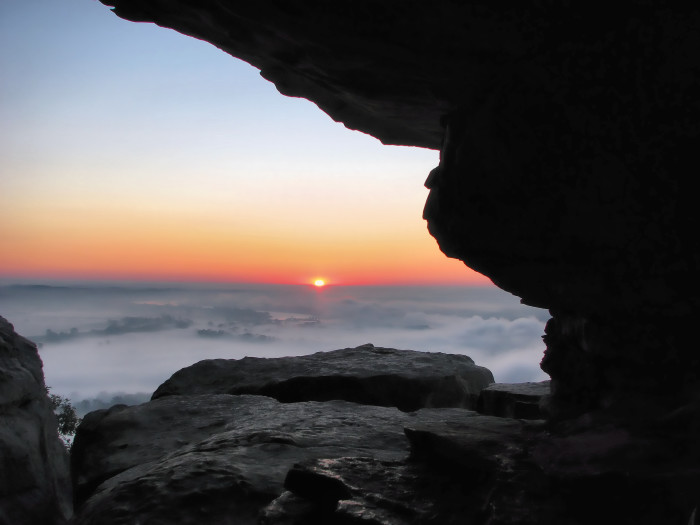 3. Foggy Sunrise at Petit Jean State Park