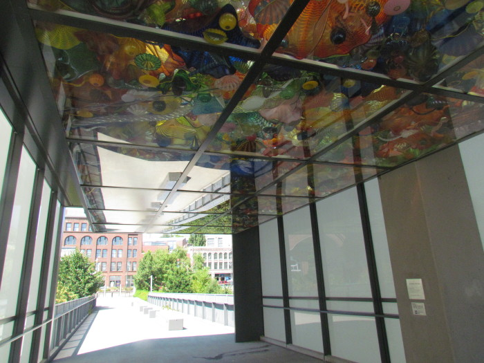 2. Tacoma is home to the only bridge made with original Dale Chihuly artwork
