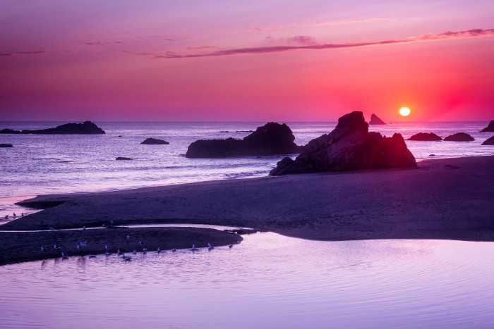 3) Watch the sunset at Harris Beach.