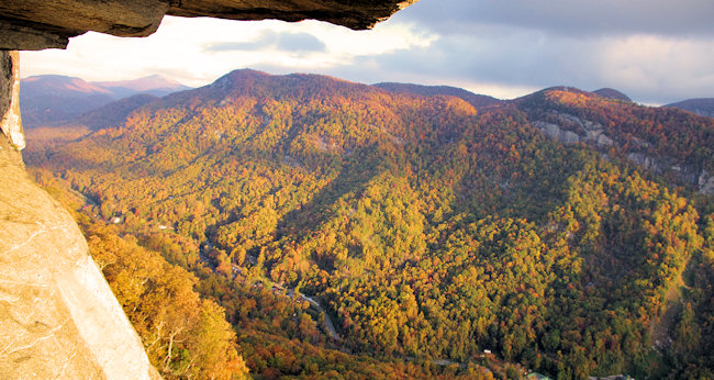 11. Take the whole family on a hike at Hickory Nut Gorge.