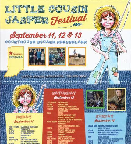 14. Little Cousin Jasper Festival in Rensselaer on Friday, September 11, 2015, 8:00 AM