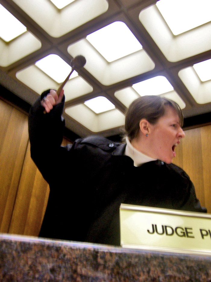 8. Go dressed as one very frustrated judge.