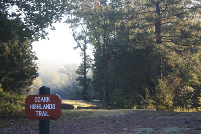 4. Take a hike on the Ozark Highlands Trail at Lake Fort Smith State Park.
