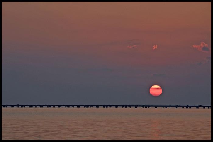 8) Sun sets on Lake Pontchartrain.