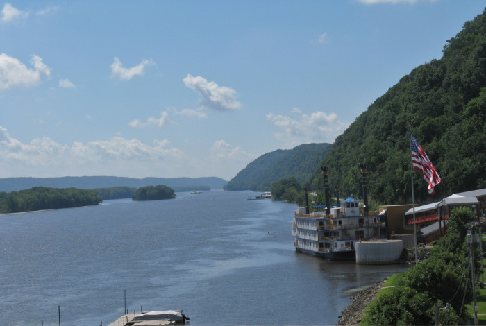 11. And the Mississippi River makes a beautiful picture from the top of our bluffs.
