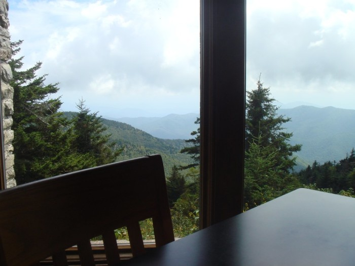 2. Then enjoy lunch at the top at Mt. Mitchell State Park Restaurant.