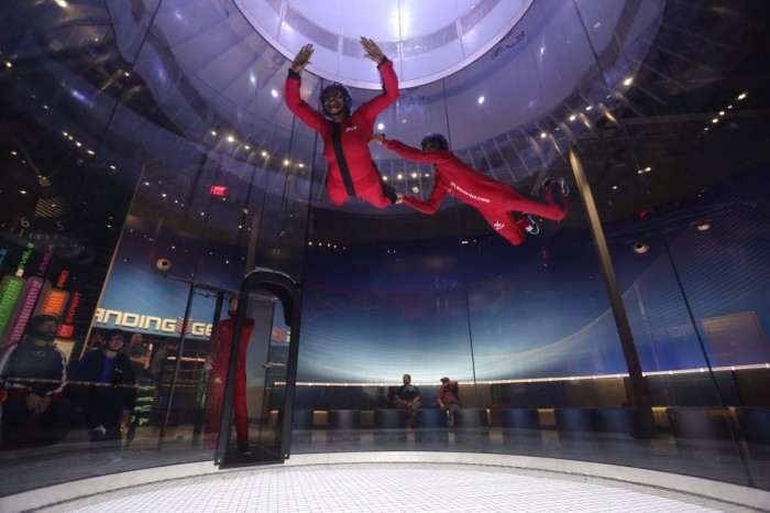 2) Ever wanted to go skydiving? Well when it's raining, you can still try it out indoors!