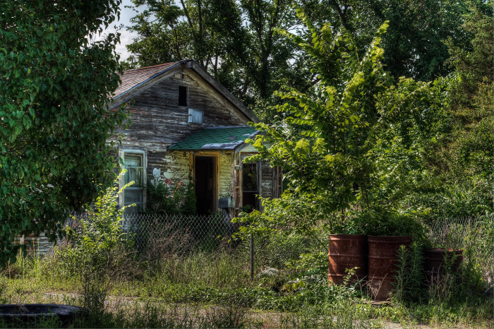 2. Located in Picher, OK, this one is a bit creepy, especially since Picher is one of the most toxic ghost towns in the world.