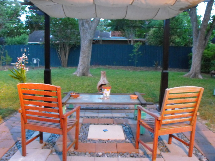 11. Some patio chairs for an enjoyable evening outside.