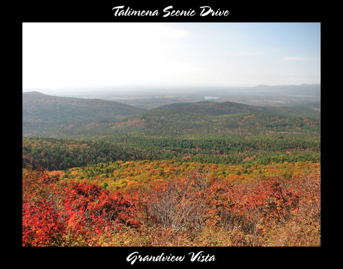 7. Another stunning one of the Talimena Scenic Drive in the Fall.