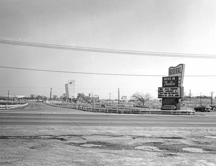 6. Tulsa's Admiral Twin Drive-In Theatre. Taken probably around 1955.