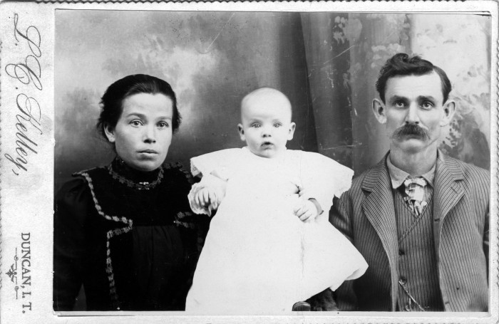 """10. """"Indian Territory"""" circa 1900. This photo is of the Payne family."""