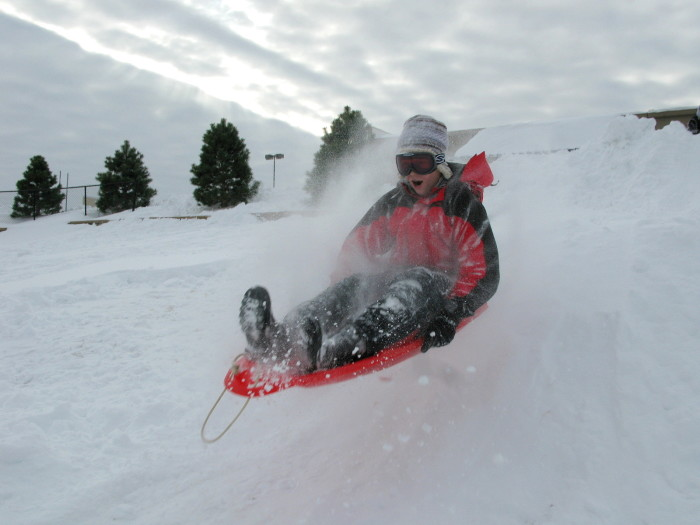 6. If it snows, school is cancelled. Time to get out the sled and find a big hill.