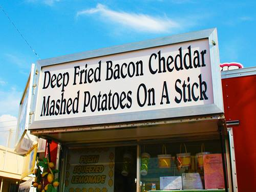 5. Deep Fried Bacon Cheddar Mashed Potatoes