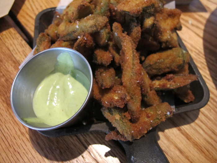 3. Fried Okra and Ranch