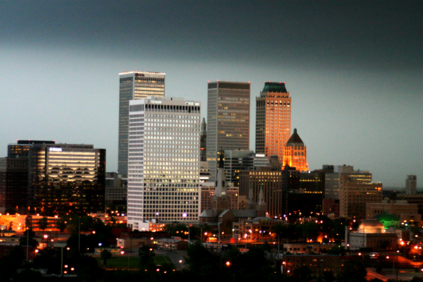 3. A great view of T-Town at dusk.