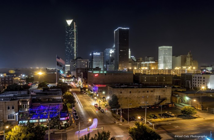 9.  Another great capture of Oklahoma City after dark.