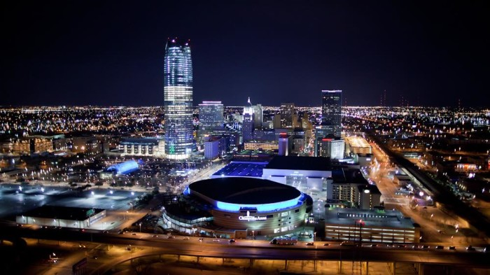 8. Now for the big OKC...the skyline is stunning from The Cosmopolitan.