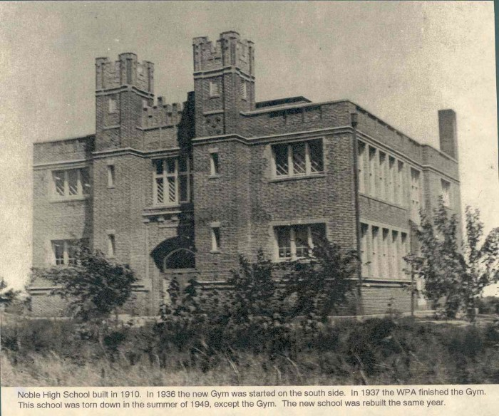 1. Noble Highschool - Then