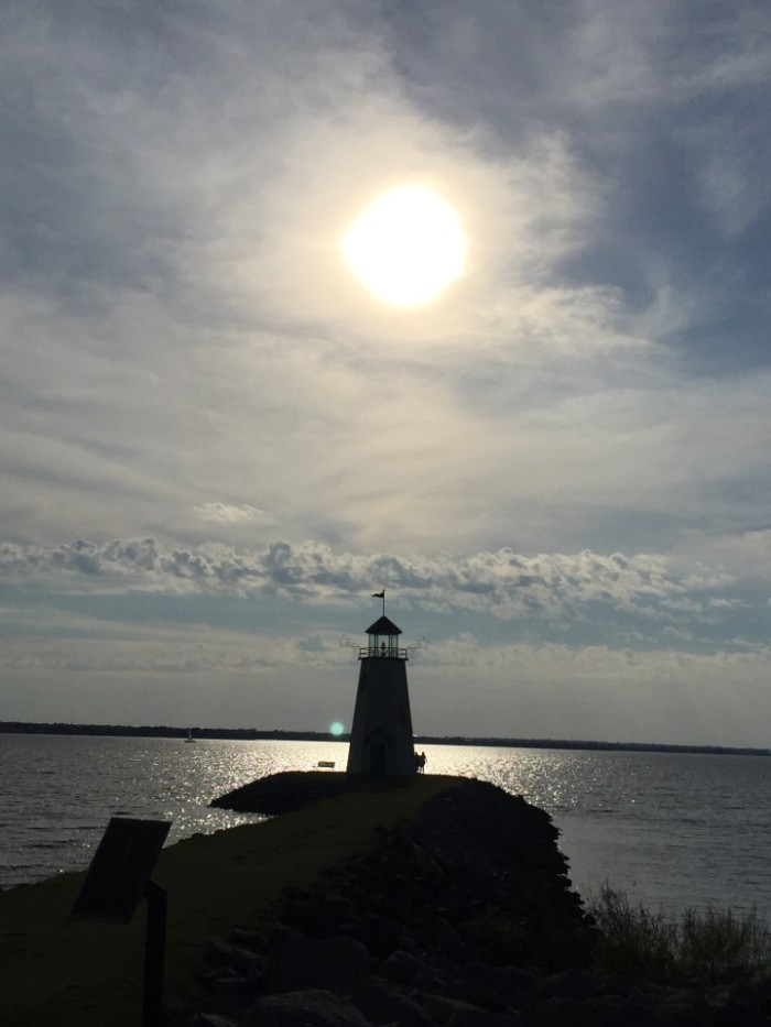 16. A great shot of the lighthouse at Lake Hefner, posted by Diane Trembley Wolz.