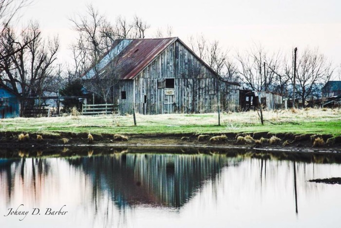 3. An old barn in Oklahoma as captured by Johnny Barber.