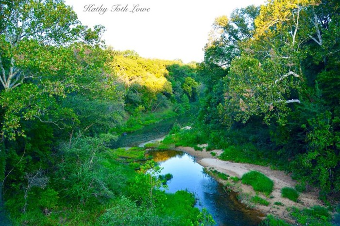 2. Sand Creek in Osage County looking gorgeous, thanks to Kathy Toth Lowe.