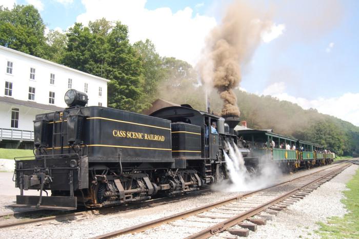 14. Ride the rails at Cass Scenic Railroad