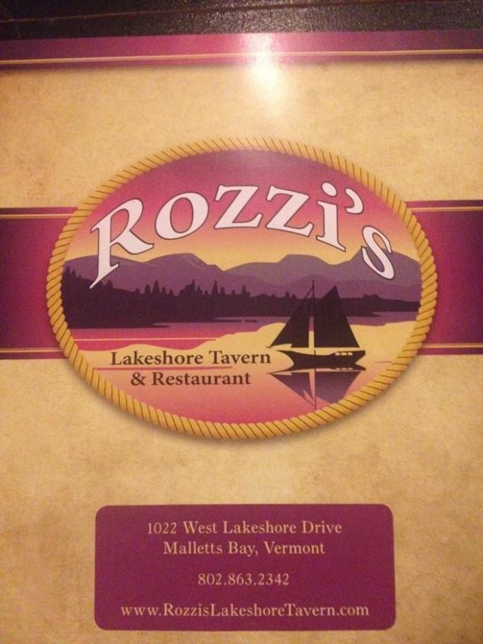 7) Rozzi's Lakeshore Tavern, Colchester