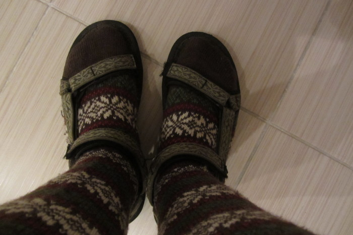 9. We don't all wear sandals and socks.