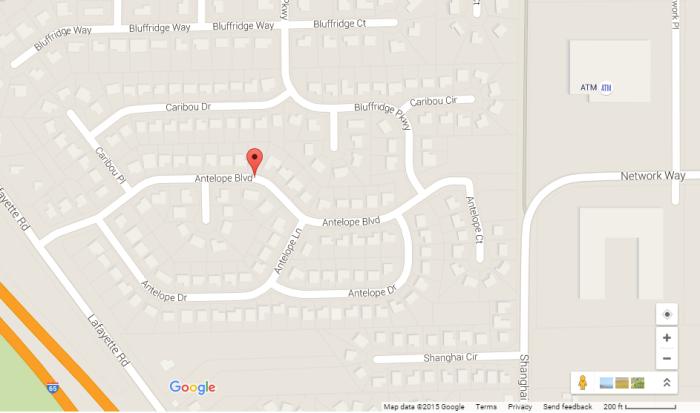 12. Antelope Boulevard, Antelope Circle, Antelope Court, Antelope Drive, and Antelope Lane
