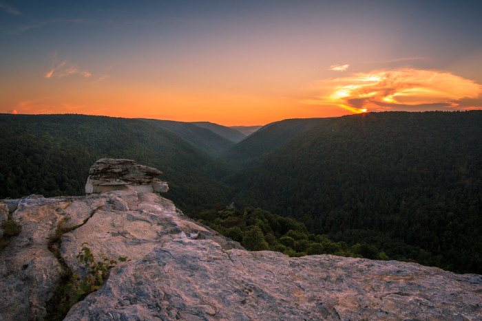 2. This sunset at Lindy Point in Blackwater Falls State Park.