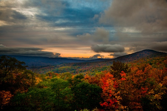 4. This view of fall's colors over West Virginia's mountains.