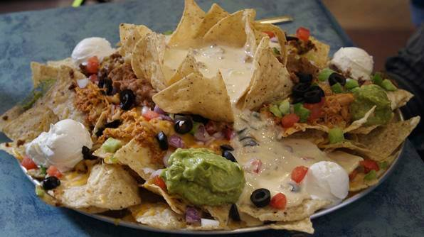 Known as Mt. Nacheesmo, this five-pound nacho dish must be consumed in 40 minutes or less. Winner gets that $40 plate for free, a T-shirt, and a photo on the wall.