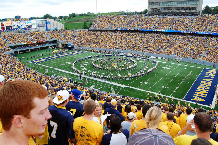 1. Traffic in Morgantown on game day.