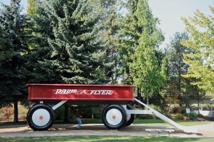 7. World's Largest Radio Flyer Wagon