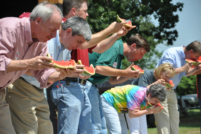 2. Holding Watermelon Eating Contests